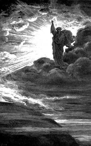 Let there be light! Illustration by Gustave Doré.